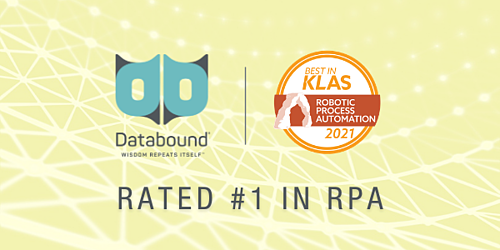Databound earns 2021 Best in KLAS for RPA