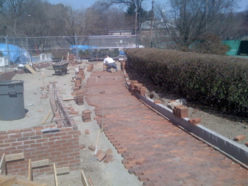landscape work Longwood Cricket Club Chestnut Hill