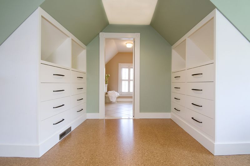 Attic remodeling ideas on pinterest attic remodel attic for Attic bedroom storage