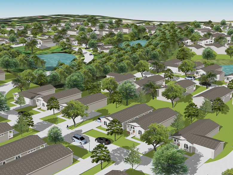 An urban design approach to creating a manufactured housing community