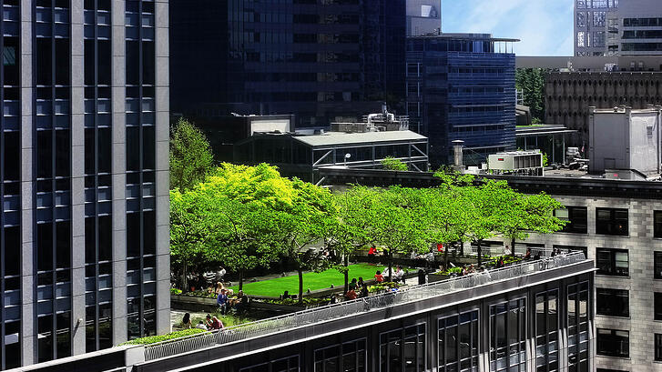 What are the top five focal points for outdoor amenities in landscape architecture?