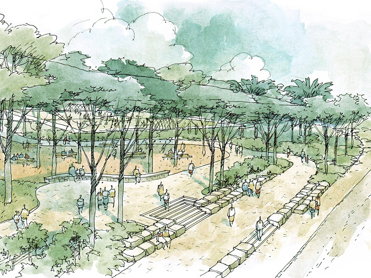 Why does landscape architecture add valuable identity to architecture?