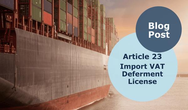 Article 23, Import VAT Deferment