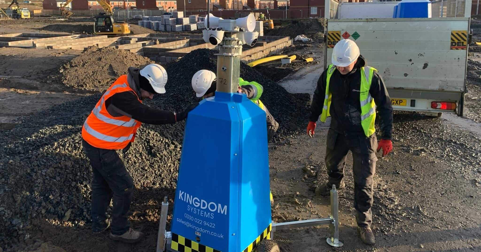 Kingdom Systems installing CCTV on construction site