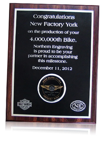 plaque harley 4 millionth bike