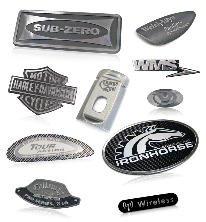 10 diamond cut nameplates