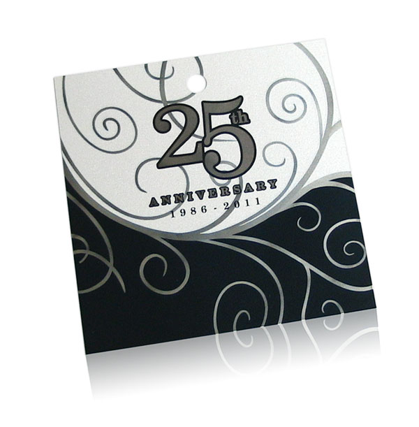 25th anniversary metal ornament