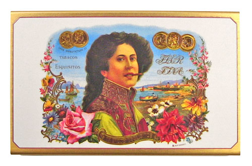 lady cigar matchbox front