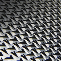 faceted pattern on metal