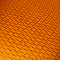 orange pattern on metal