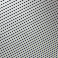 brushed pinstripe finish