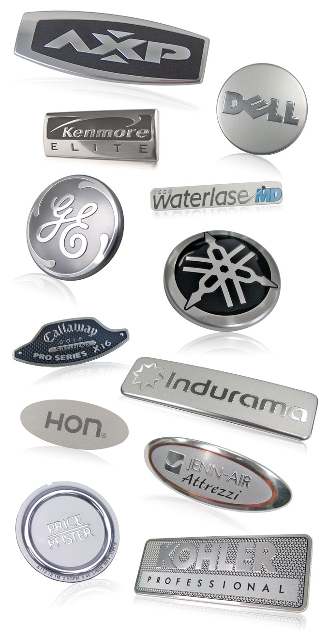 aluminum nameplates with bright graphics