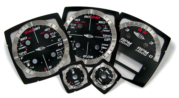 aluminum / polycarbonate gauges