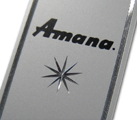 Amana diamond cut nameplate