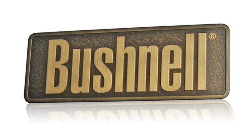 antiqued brass nameplate