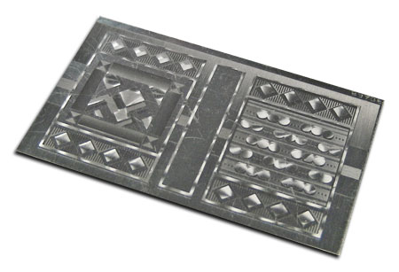 mechanical aluminum finish step