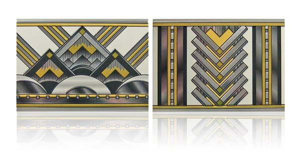 art deco patterns. art deco matchbox