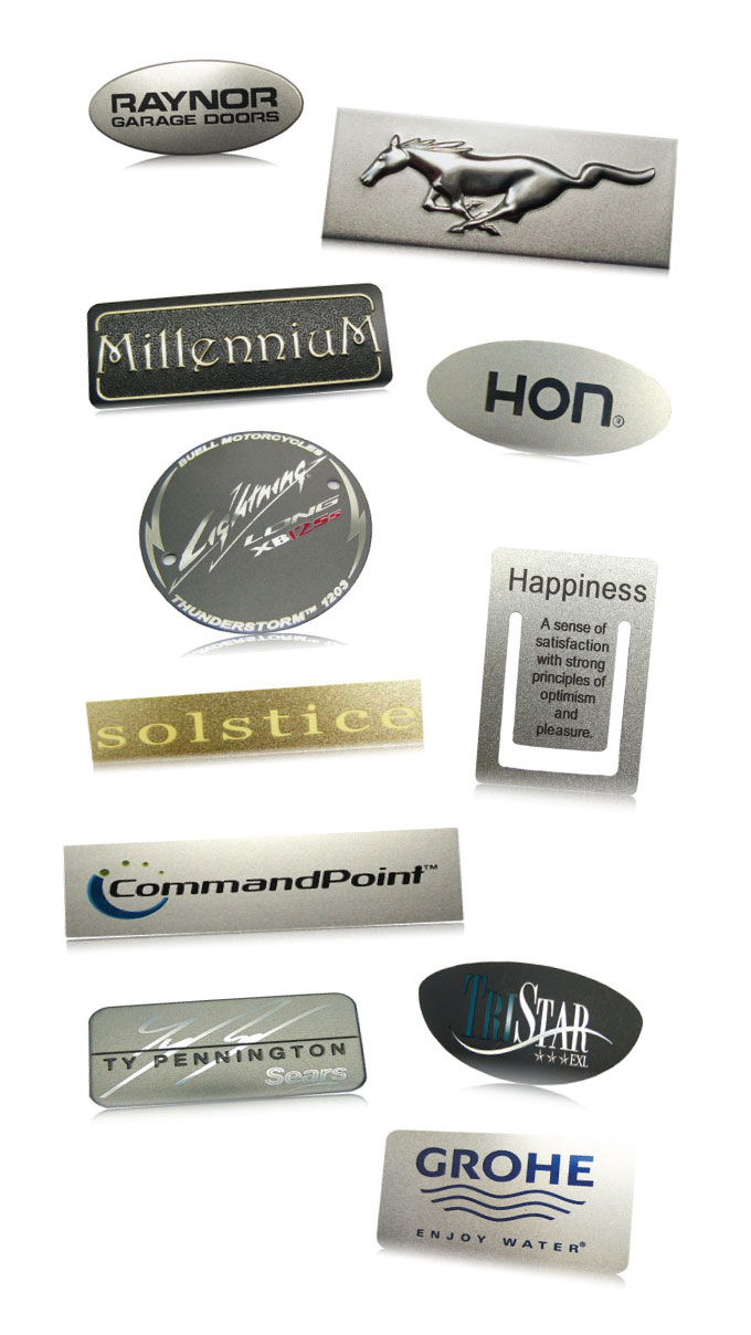 beadblast aluminum nameplate finishes