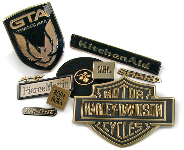 black and gold nameplates