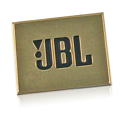 bright gold JBL nameplate