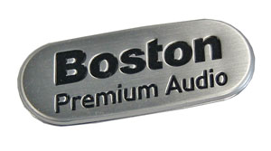 Boston audio nameplate