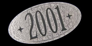 class of 2001 yearbook nameplate
