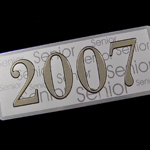 class of 2007 yearbook nameplate