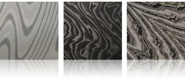 damascus steel aluminum finishes