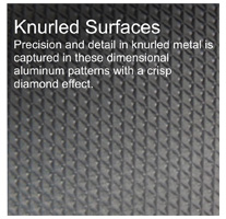 knurled surfaces