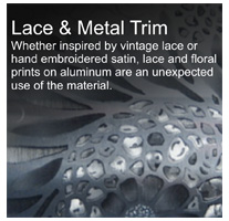 lace and metal trim