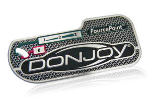 Donjoy aluminum medical device nameplate