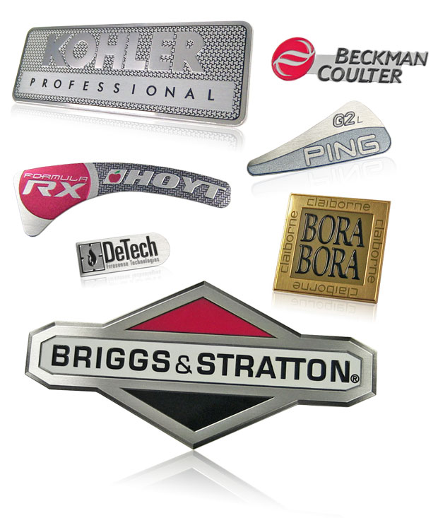 multiple emboss nameplates