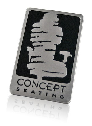 concept seating etch and fill nameplate