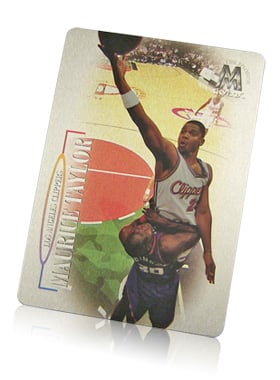 full color aluminum basketball card