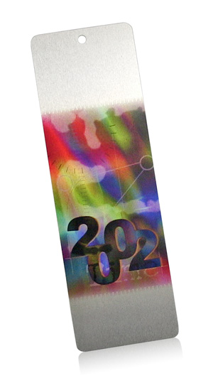 full color aluminum bookmark