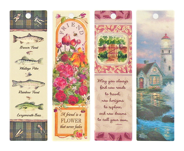 digitally printed plastic bookmarks
