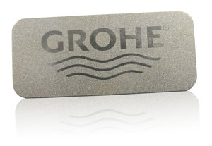 metallic inks nameplate | GROHE