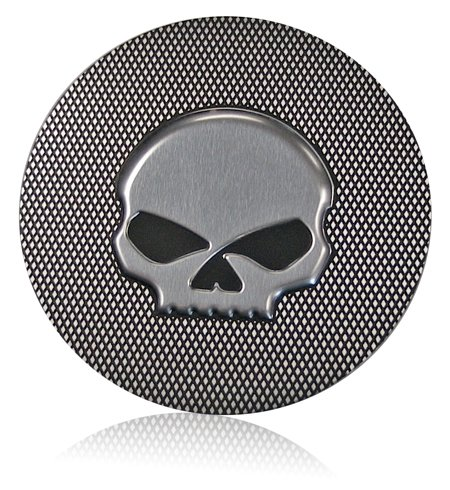Harley knurled finish skull badge