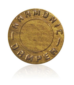 harmonic damper distressed nameplate