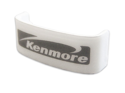 in-mold decorated Kenmore nameplate