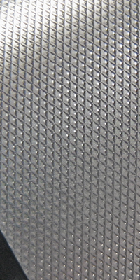 knurled aluminum finish