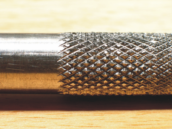 knurled finish