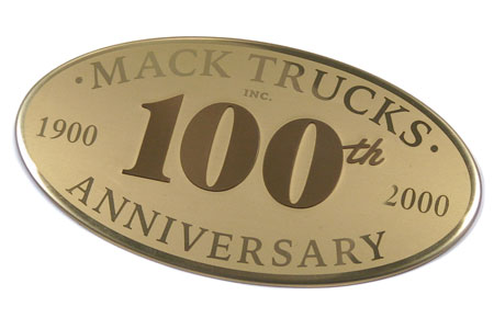 Mack Trucks 100th anniversary badge