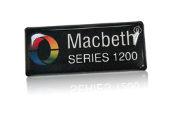 Macbeth Series 1200 domed label