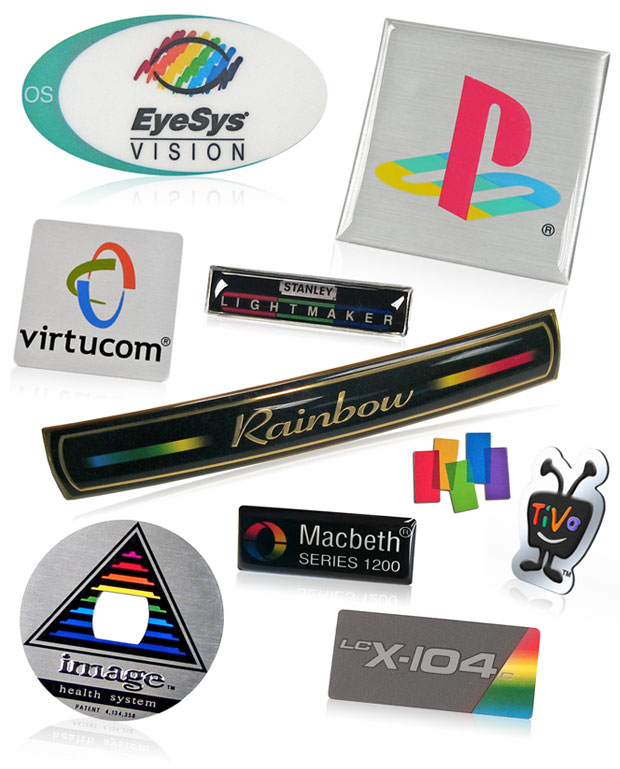 multi color logos in nameplates