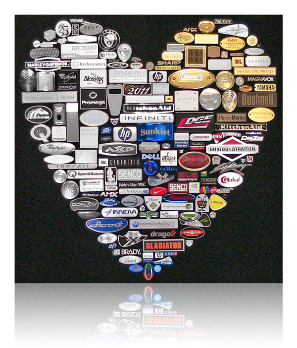 nameplate display board heart