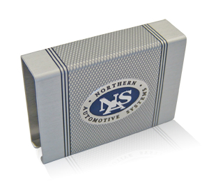 Northern Automotive Systems knurled aluminum finish matchbox