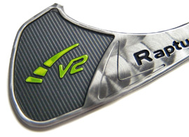 Ping golf aluminum nameplate detail