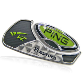 Ping Golf Rapture Metal & Plastic Nameplate