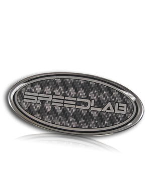 domed carbon fiber nameplate